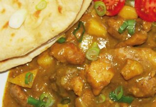 Caribbean Chicken Roti Recipe