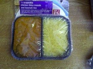 Chicken tikka masala and basmati rice